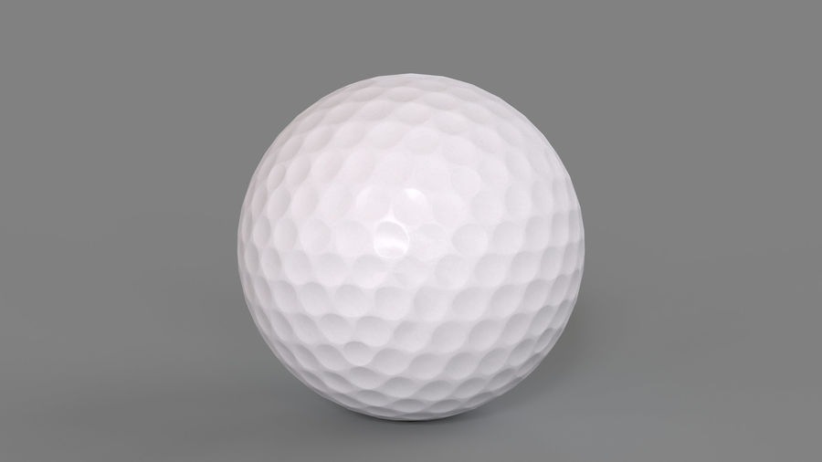 Golfbal laag poly royalty-free 3d model - Preview no. 2