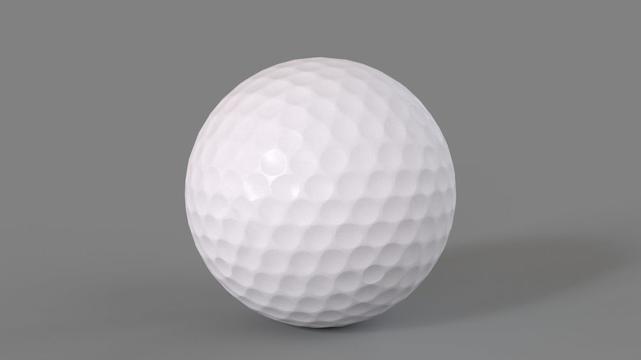 Golfbal laag poly royalty-free 3d model - Preview no. 3