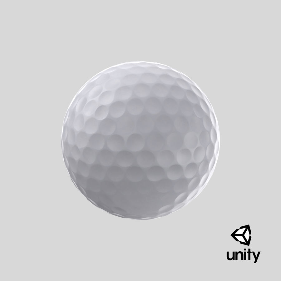 Golfbal laag poly royalty-free 3d model - Preview no. 18