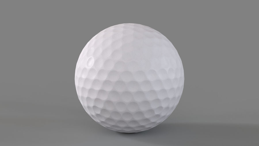 Golfbal laag poly royalty-free 3d model - Preview no. 4