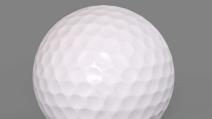 Golfbal laag poly royalty-free 3d model - Preview no. 8