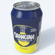 Orangina citrus can 3d model