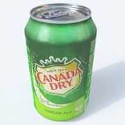 Canada droog blikje 3d model