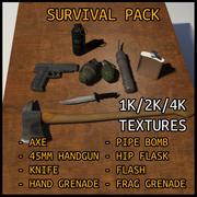 Combat survival kit 3d model