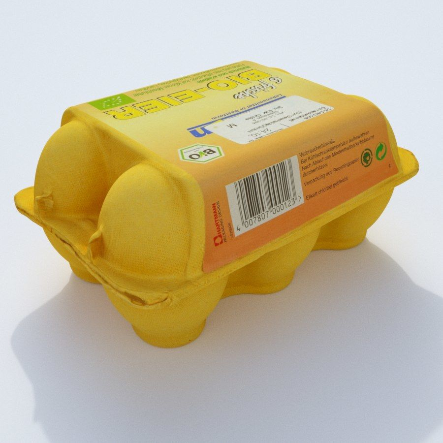Egg carton royalty-free 3d model - Preview no. 3