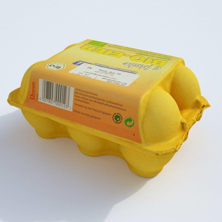 Egg carton royalty-free 3d model - Preview no. 4