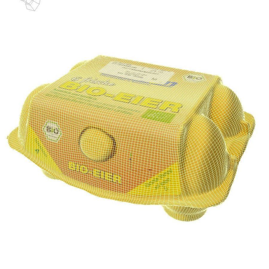 Egg carton royalty-free 3d model - Preview no. 8