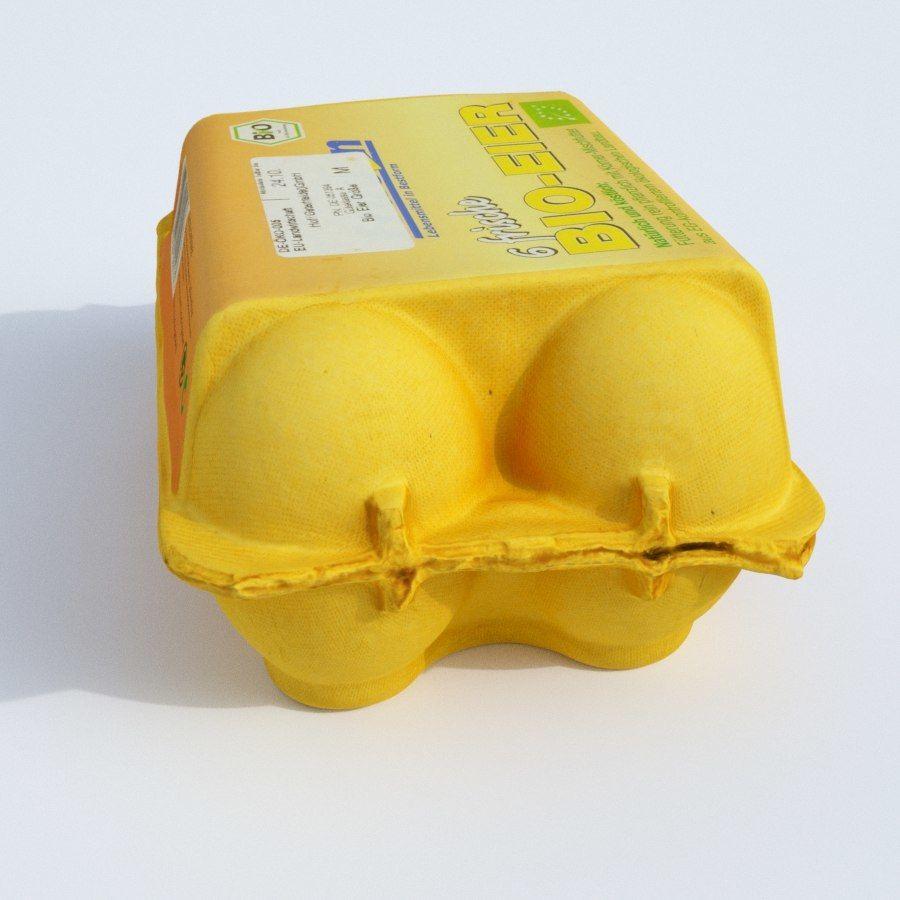 Egg carton royalty-free 3d model - Preview no. 5