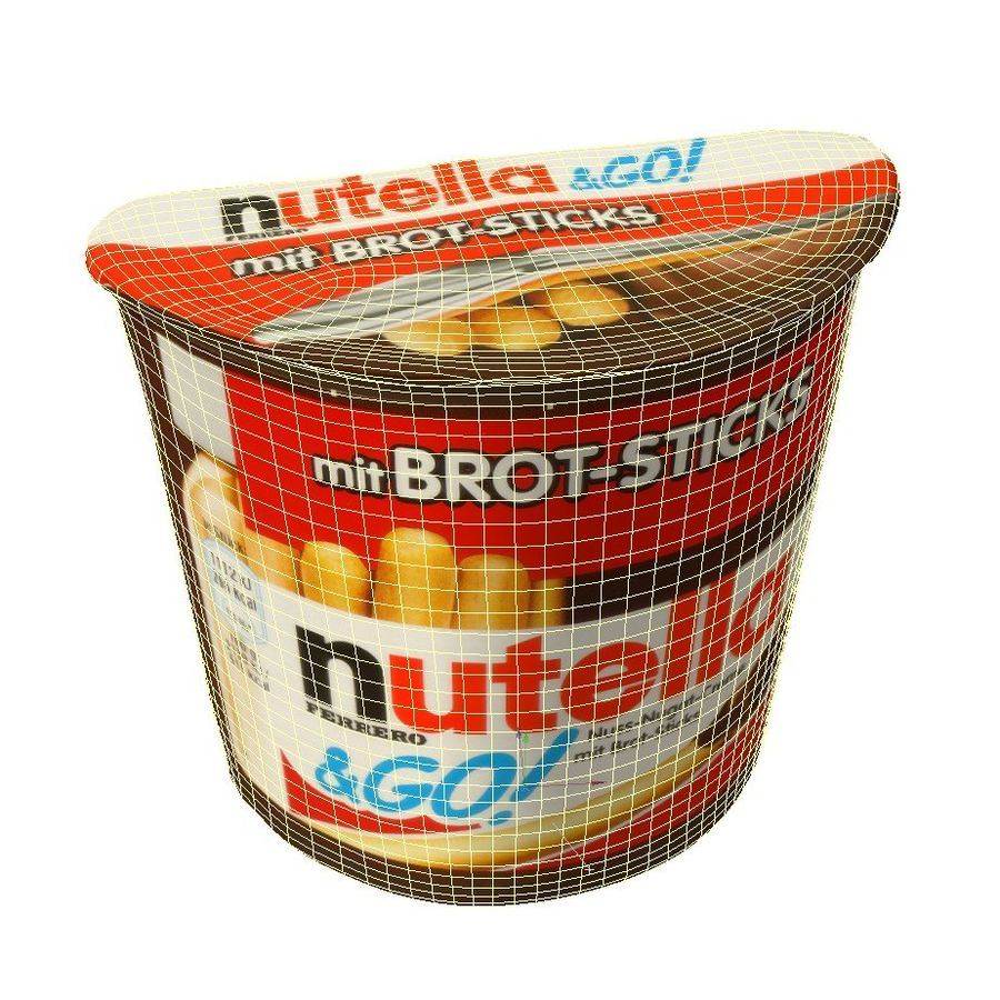 Nutella 2Go royalty-free 3d model - Preview no. 2