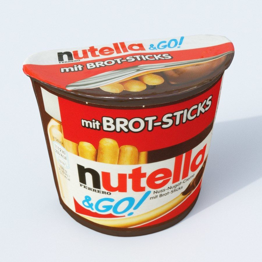 Nutella 2Go royalty-free 3d model - Preview no. 1
