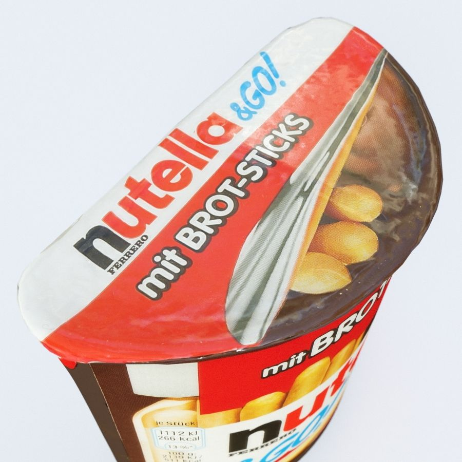 Nutella 2Go royalty-free 3d model - Preview no. 7