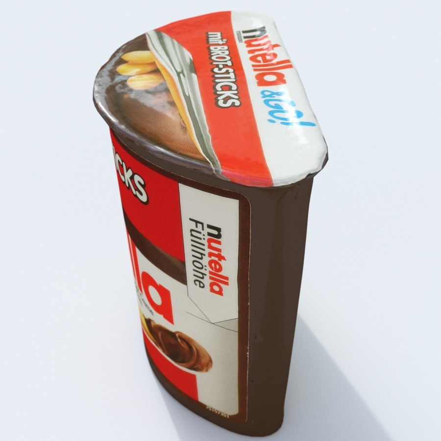 Nutella 2Go royalty-free 3d model - Preview no. 4