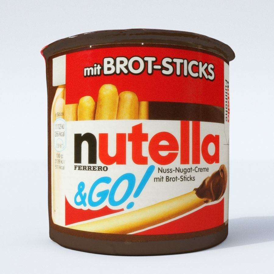 Nutella 2Go royalty-free 3d model - Preview no. 8