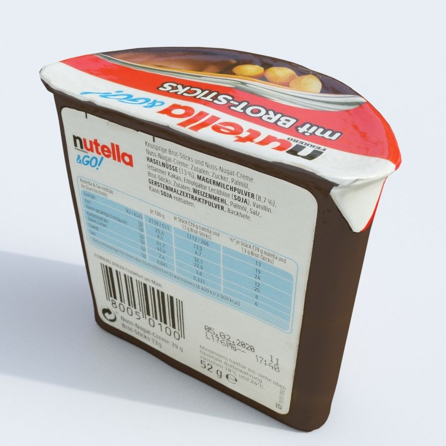 Nutella 2Go royalty-free 3d model - Preview no. 6