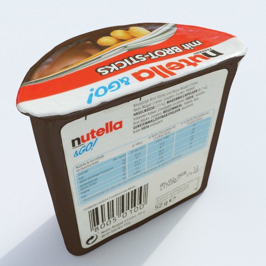 Nutella 2Go royalty-free 3d model - Preview no. 5
