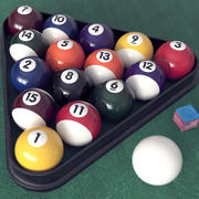 Piłki bilardowe HD 3d model