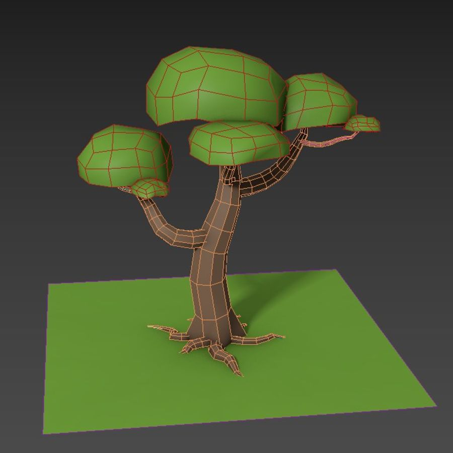 Laag poly boom royalty-free 3d model - Preview no. 5