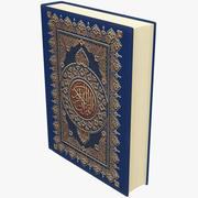 Book Quran 3d model