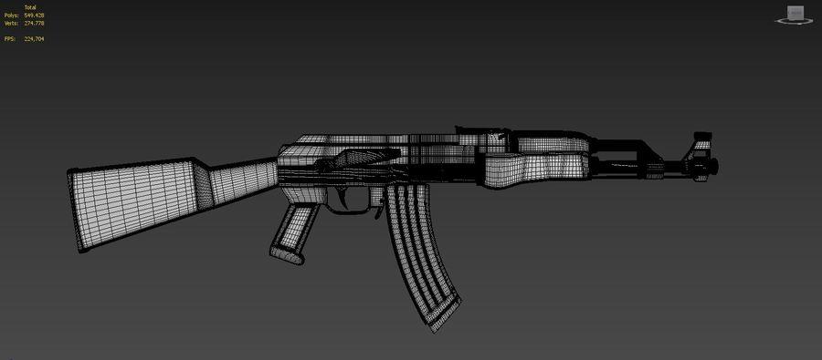 Ak-47 Usado royalty-free 3d model - Preview no. 8