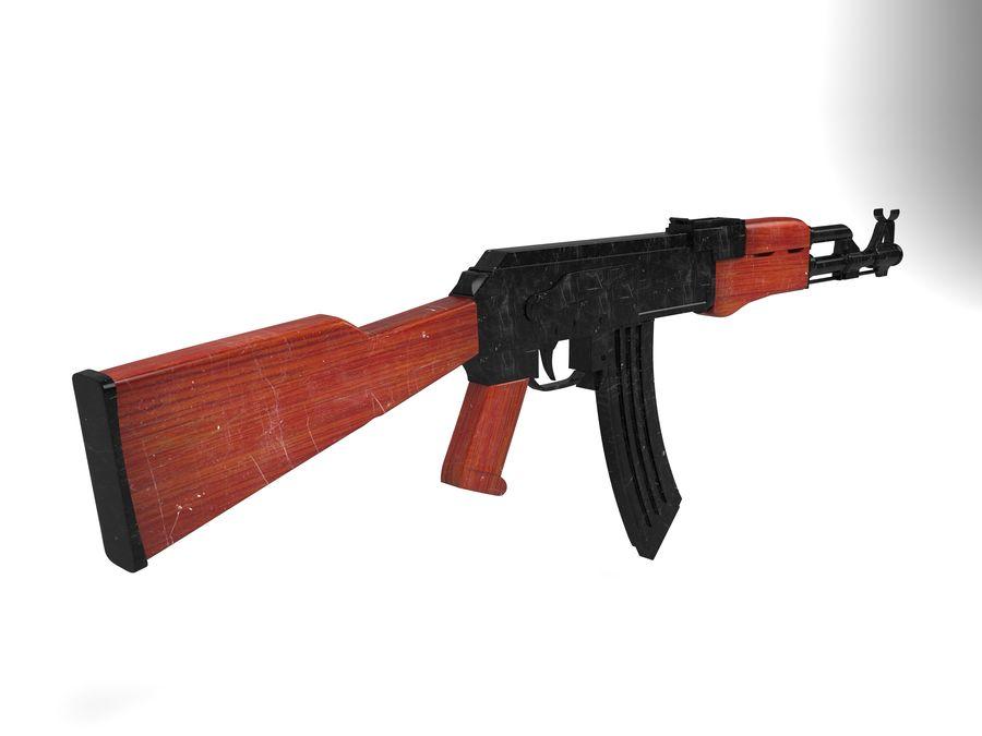 Ak-47 Usado royalty-free 3d model - Preview no. 3