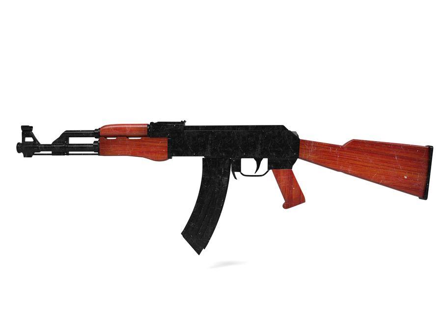 Ak-47 Usado royalty-free 3d model - Preview no. 2