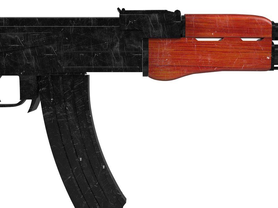 Ak-47 Usado royalty-free 3d model - Preview no. 4