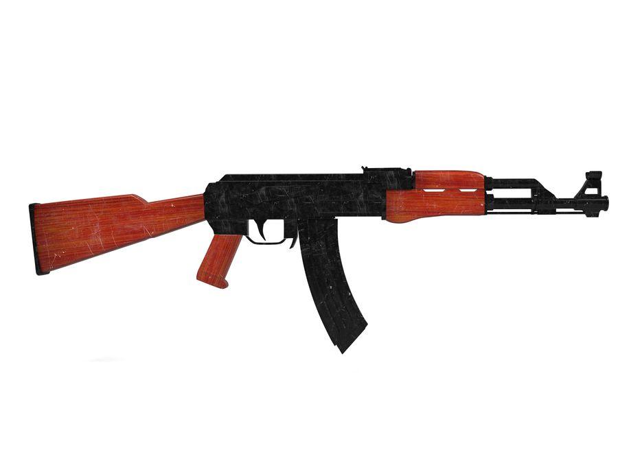 Ak-47 Usado royalty-free 3d model - Preview no. 1