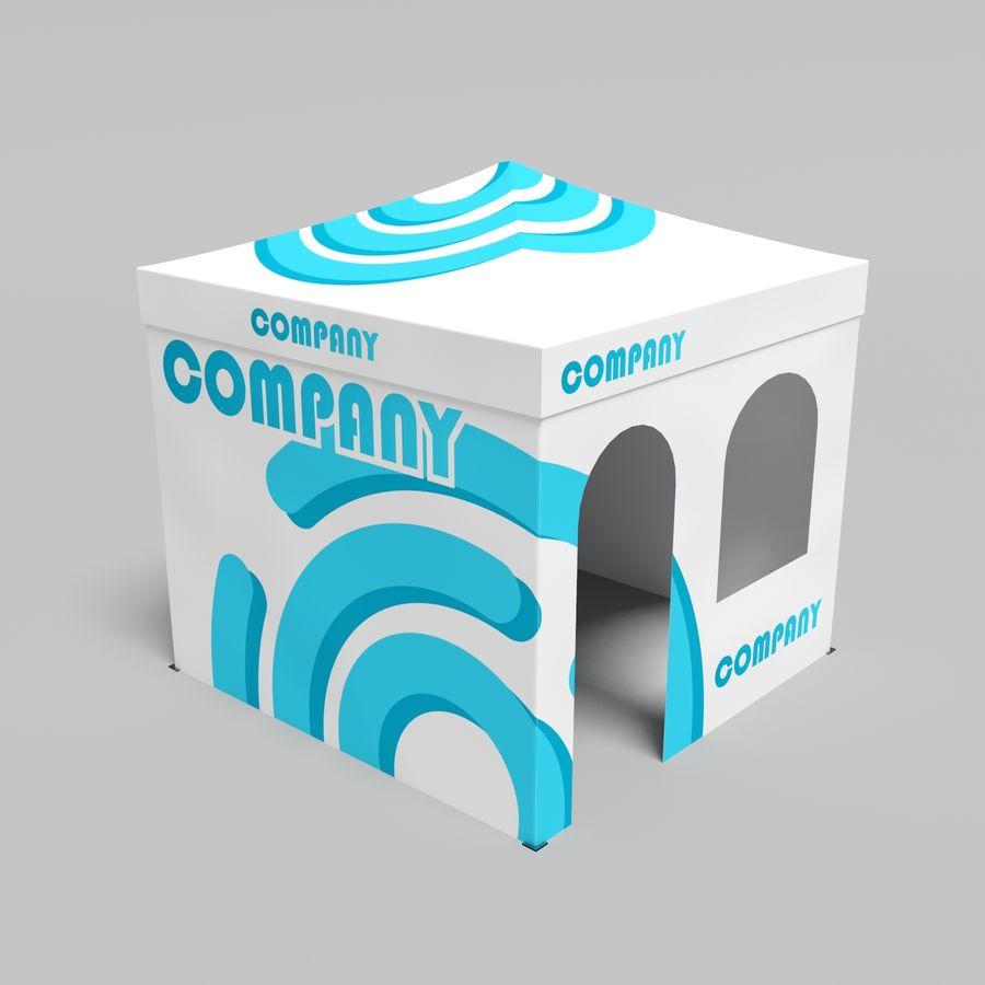 3D tent tent tent paviljoen # 1 royalty-free 3d model - Preview no. 3