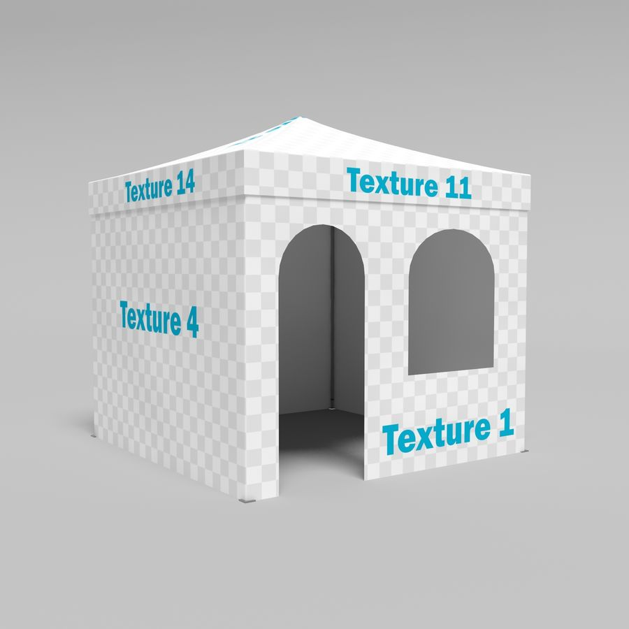 3D Tent marquee tabernacle pavilion #1 royalty-free 3d model - Preview no. 6