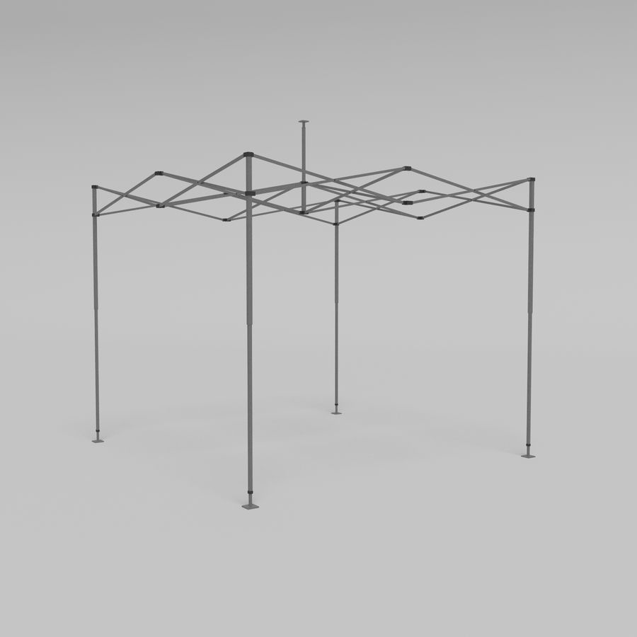 3D Tent marquee tabernacle pavilion #1 royalty-free 3d model - Preview no. 11
