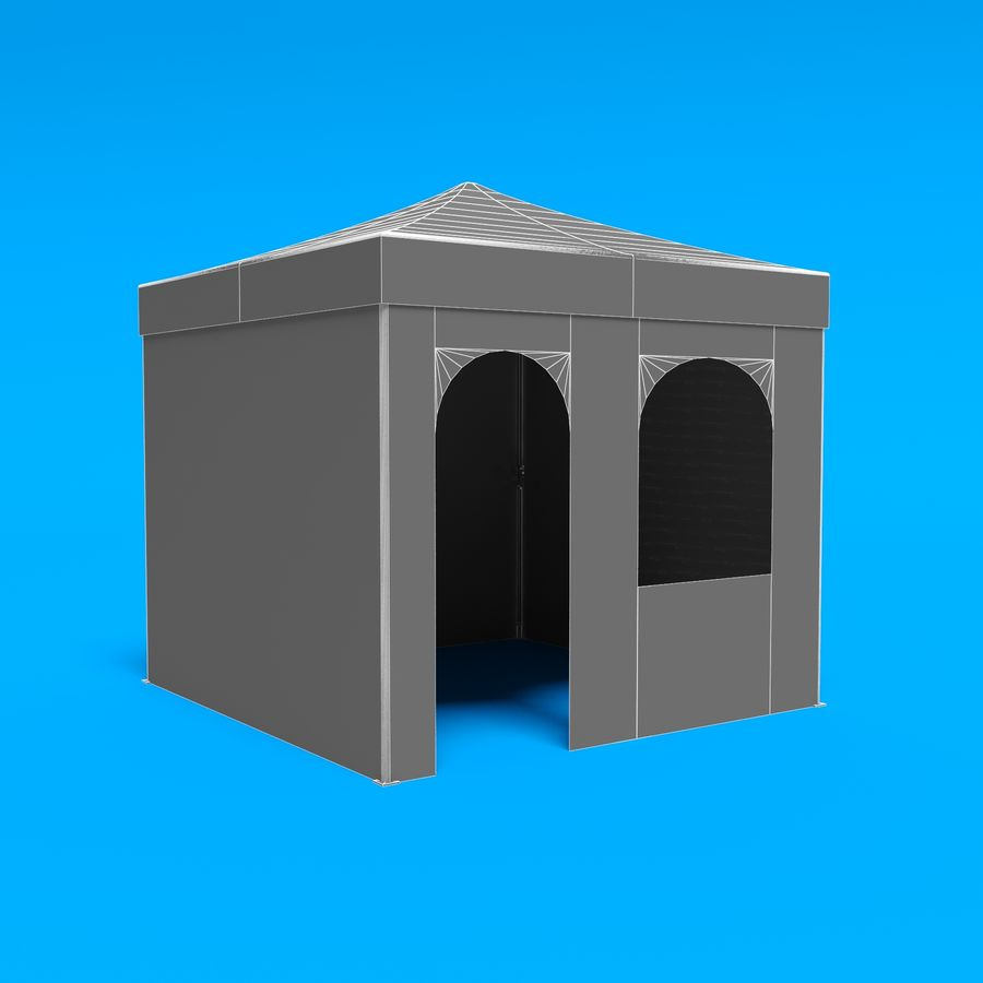3D Tent marquee tabernacle pavilion #1 royalty-free 3d model - Preview no. 15
