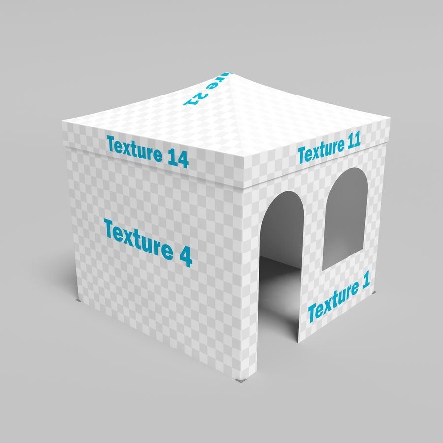 3D Tent marquee tabernacle pavilion #1 royalty-free 3d model - Preview no. 8