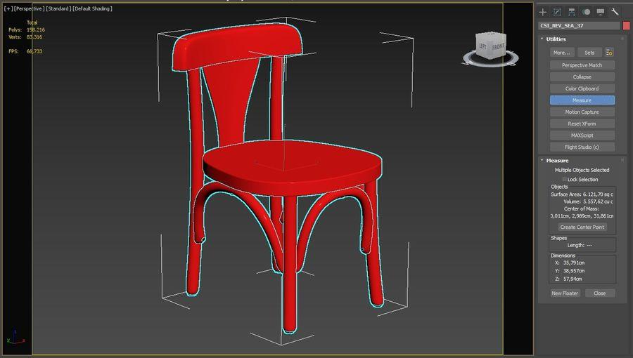 Детский стул royalty-free 3d model - Preview no. 8