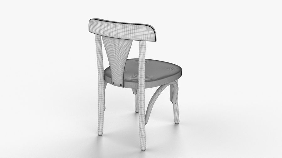 Детский стул royalty-free 3d model - Preview no. 3