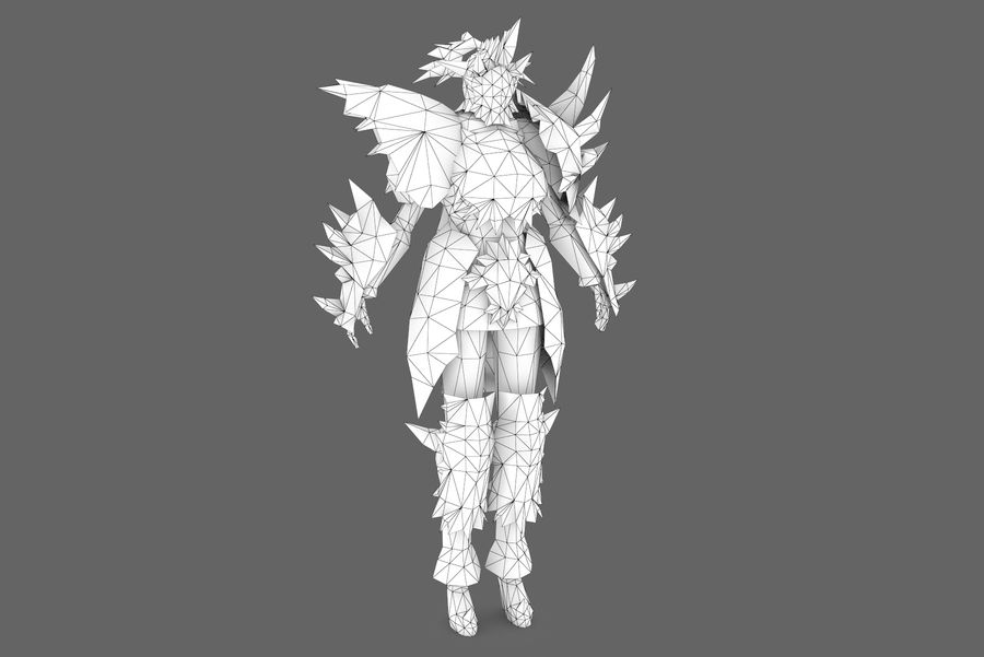 Character 001 royalty-free 3d model - Preview no. 7