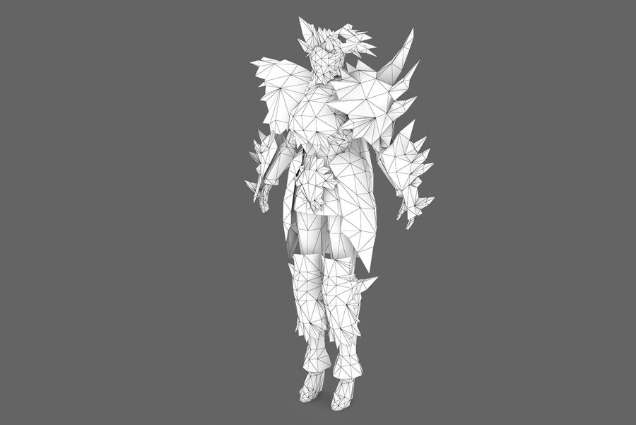 Character 001 royalty-free 3d model - Preview no. 8