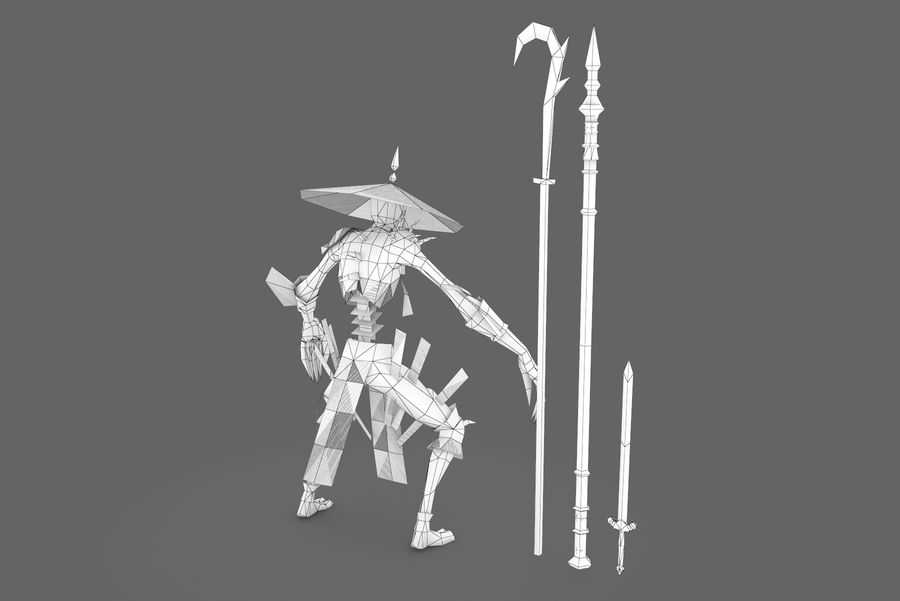 Karakter 002 royalty-free 3d model - Preview no. 10