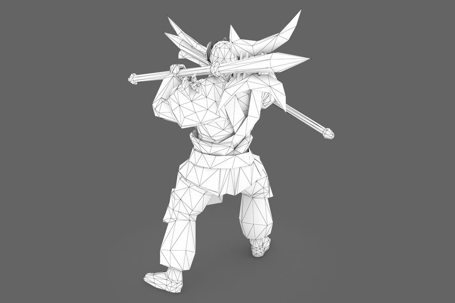 Character 003 royalty-free 3d model - Preview no. 9