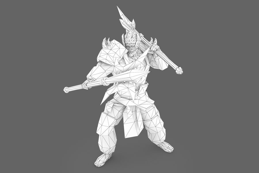 Character 003 royalty-free 3d model - Preview no. 7