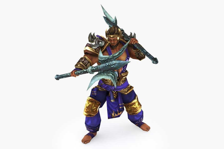 Character 003 royalty-free 3d model - Preview no. 2