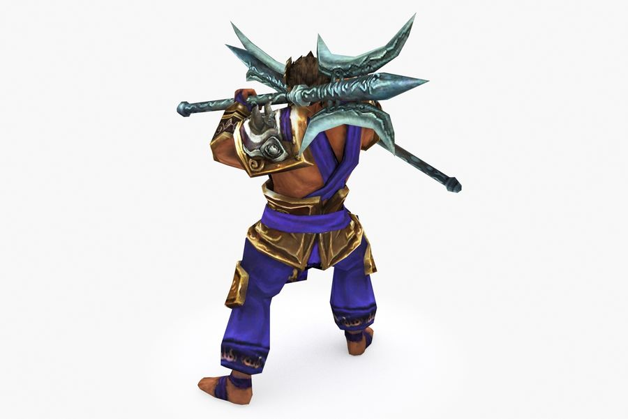 Character 003 royalty-free 3d model - Preview no. 4
