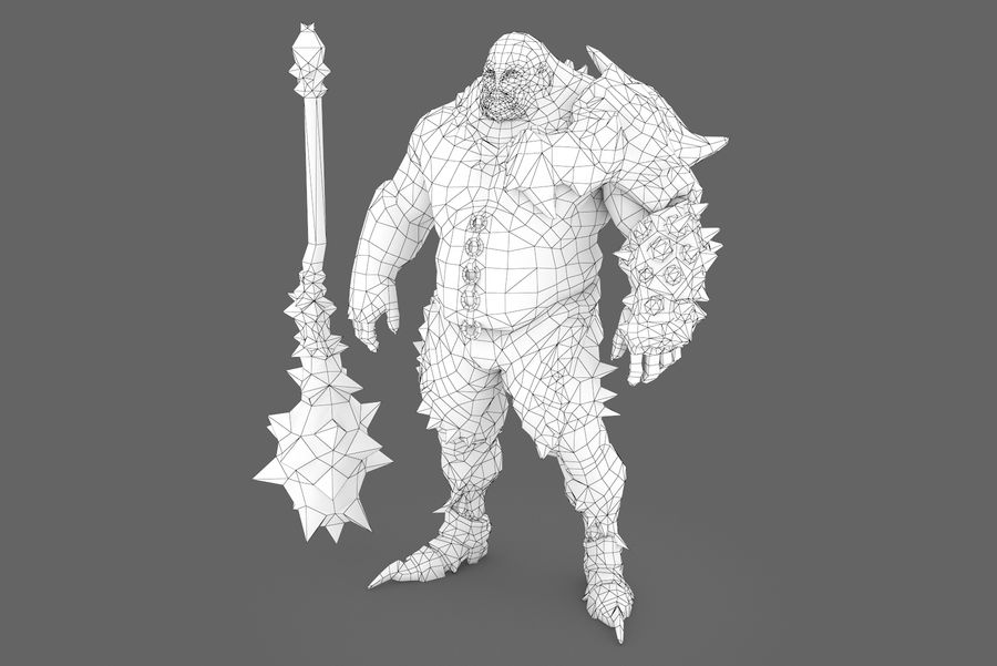 Character 004 royalty-free 3d model - Preview no. 8