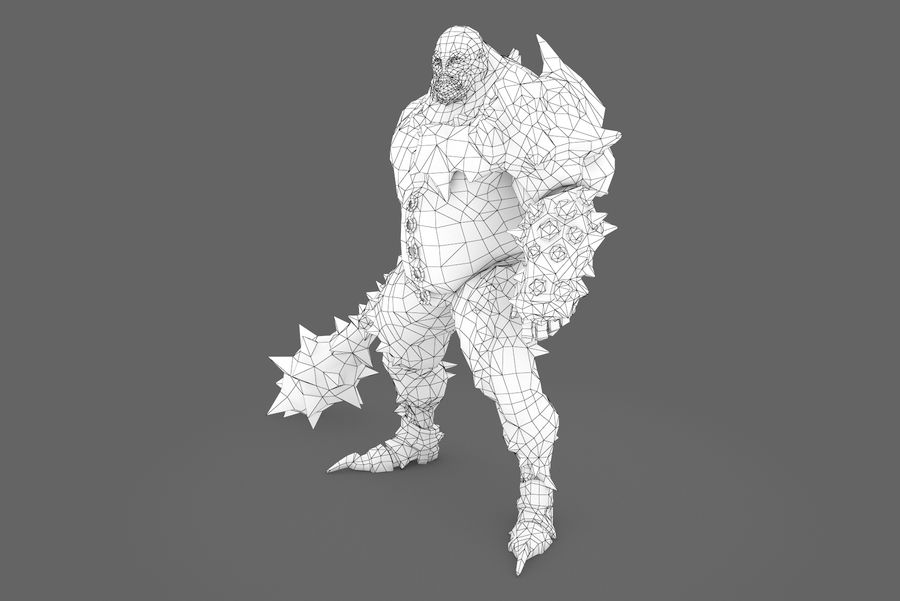 Character 005 royalty-free 3d model - Preview no. 8