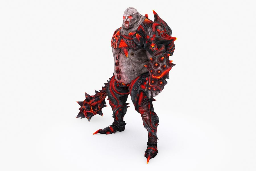 Character 005 royalty-free 3d model - Preview no. 3