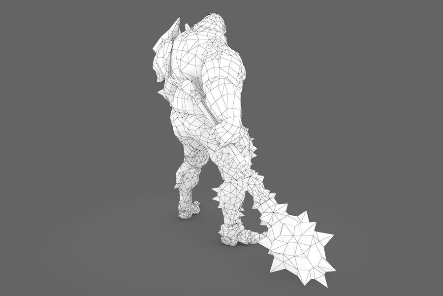 Character 005 royalty-free 3d model - Preview no. 10
