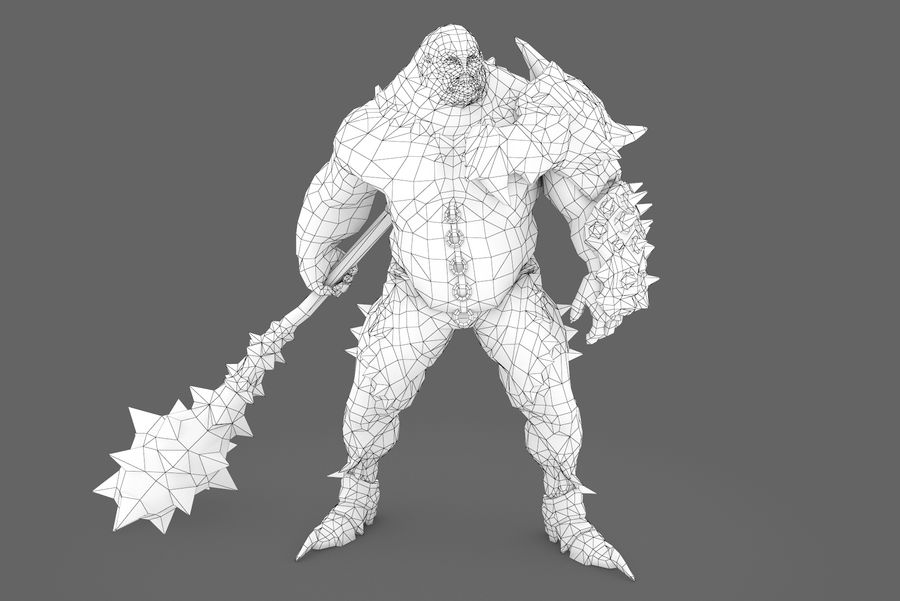 Character 005 royalty-free 3d model - Preview no. 7