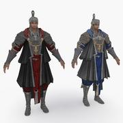 Medieval China character 010 3d model