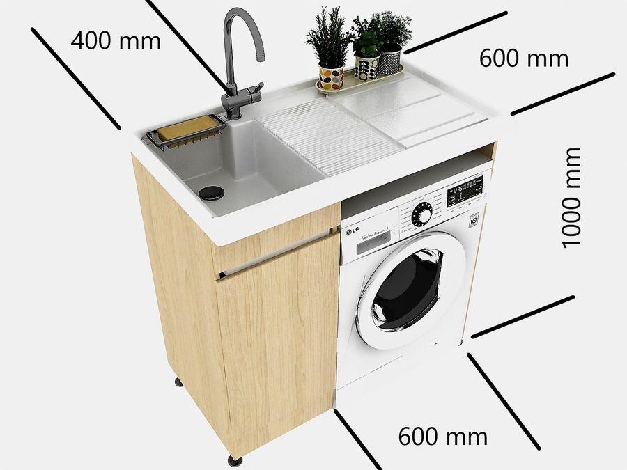 Waschbecken Und Waschmaschine Set 3d Modell 18 Obj