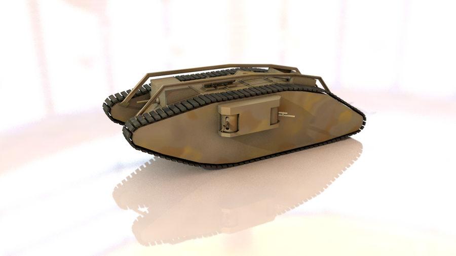 Vrouwelijke militaire tank royalty-free 3d model - Preview no. 3
