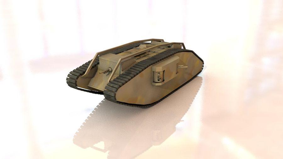Vrouwelijke militaire tank royalty-free 3d model - Preview no. 1